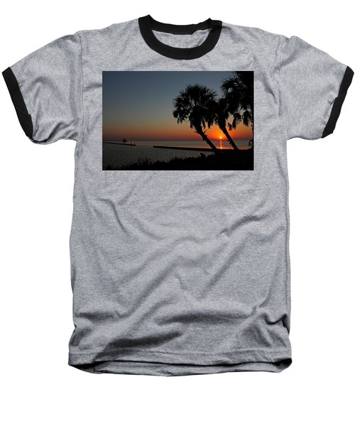 Baseball T-Shirt featuring the photograph Sunrise On Pleasure Island by Judy Vincent