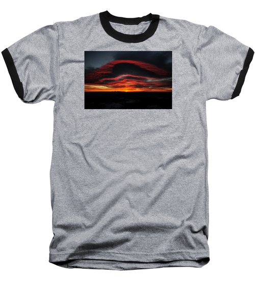 Sunrise On Rainier Baseball T-Shirt