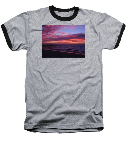 Baseball T-Shirt featuring the photograph Sunrise On Sanibel Island by Melinda Saminski