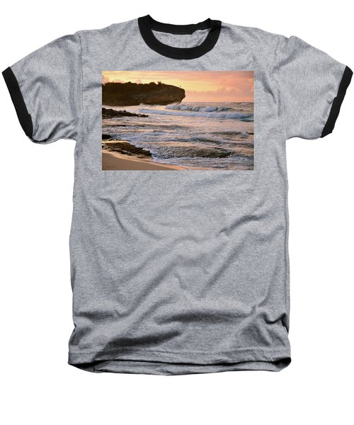 Sunrise On Shipwreck Beach Baseball T-Shirt by Marie Hicks