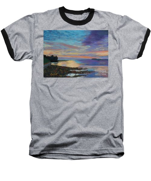 Sunrise On Tancook Island  Baseball T-Shirt by Rae  Smith PAC