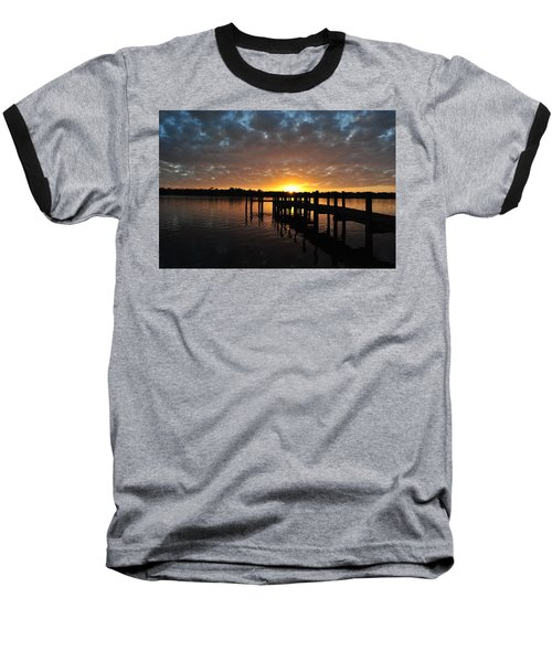 Baseball T-Shirt featuring the photograph Sunrise On The Bayou by Michele Kaiser
