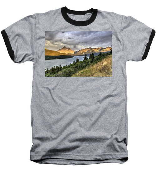 Baseball T-Shirt featuring the photograph Sunrise On The Bitterroot River by Alan Toepfer