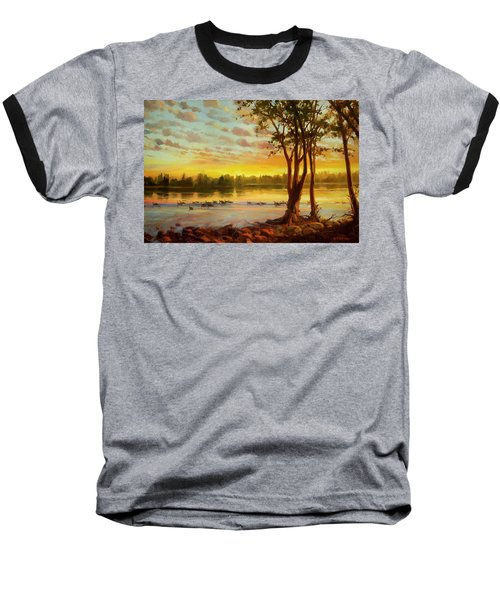 Sunrise On The Columbia Baseball T-Shirt