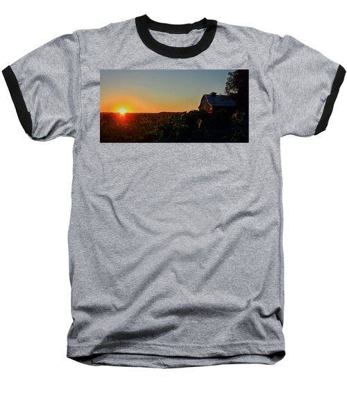 Baseball T-Shirt featuring the photograph Sunrise On The Farm by Chris Berry