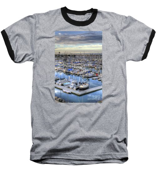 Sunrise On The Harbor Baseball T-Shirt