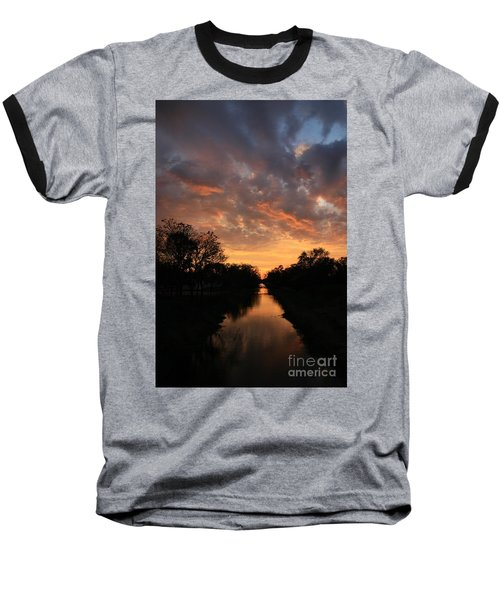 Sunrise On The Illinois Michigan Canal Baseball T-Shirt
