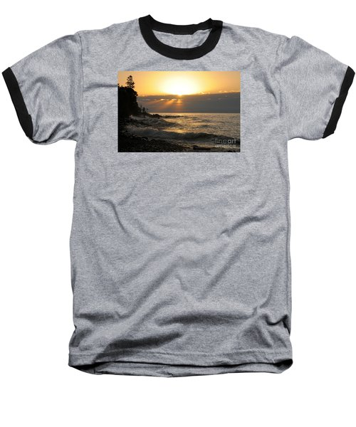 Baseball T-Shirt featuring the photograph Sunrise On The Point by Sandra Updyke