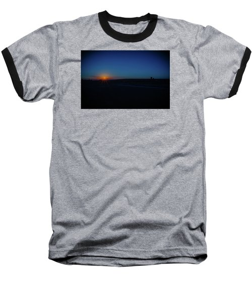 Sunrise On The Reservation Baseball T-Shirt by Mark Dunton