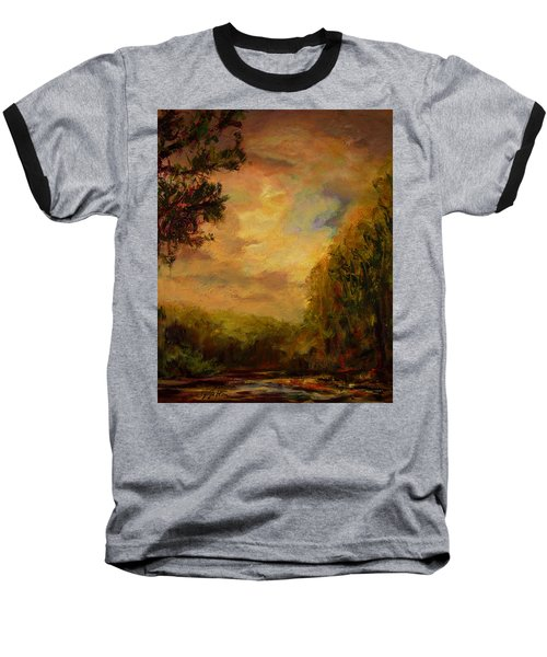 Sunrise On The River Baseball T-Shirt