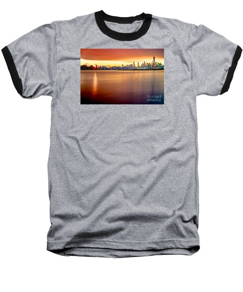 Sunrise On The Weehawken Waterfront Baseball T-Shirt