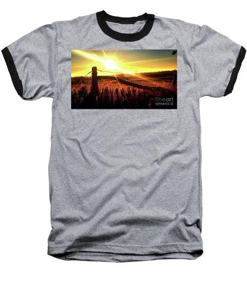 Sunrise On The Wire Baseball T-Shirt