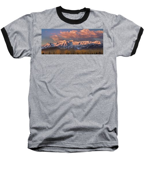 Sunrise On Timpanogos Baseball T-Shirt