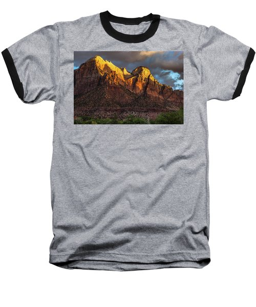 Sunrise On Zion National Park Baseball T-Shirt