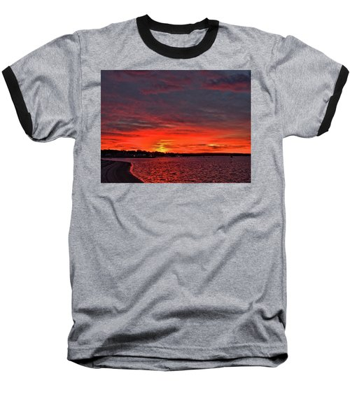 Sunrise Onset Pier Baseball T-Shirt