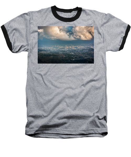 Baseball T-Shirt featuring the photograph Sunrise Over A Cloudy Brisbane by Parker Cunningham