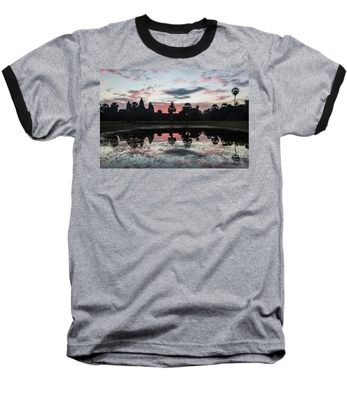 Sunrise Over Angkor Wat Baseball T-Shirt