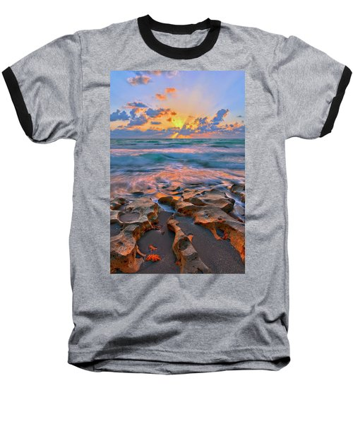 Sunrise Over Carlin Park In Jupiter Florida Baseball T-Shirt by Justin Kelefas