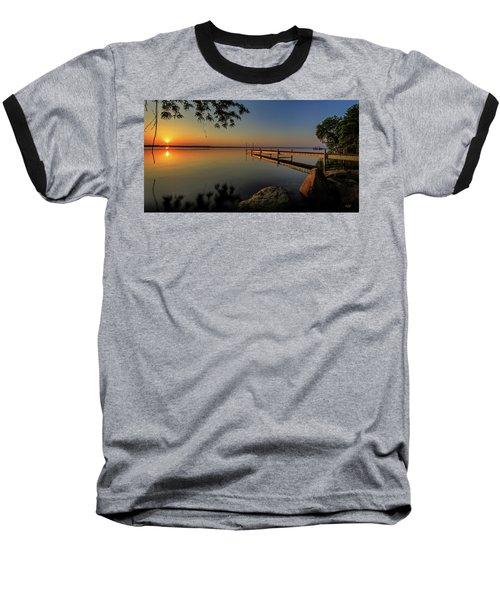 Sunrise Over Cayuga Lake Baseball T-Shirt by Everet Regal