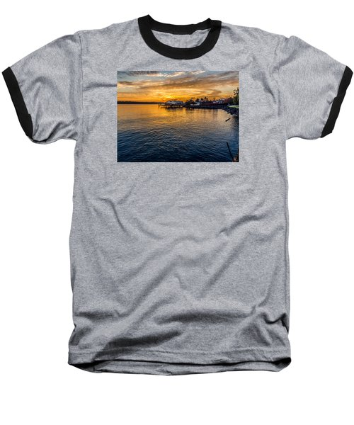 Sunrise Over Commencement Bay Tacoma, Wa Baseball T-Shirt by Rob Green