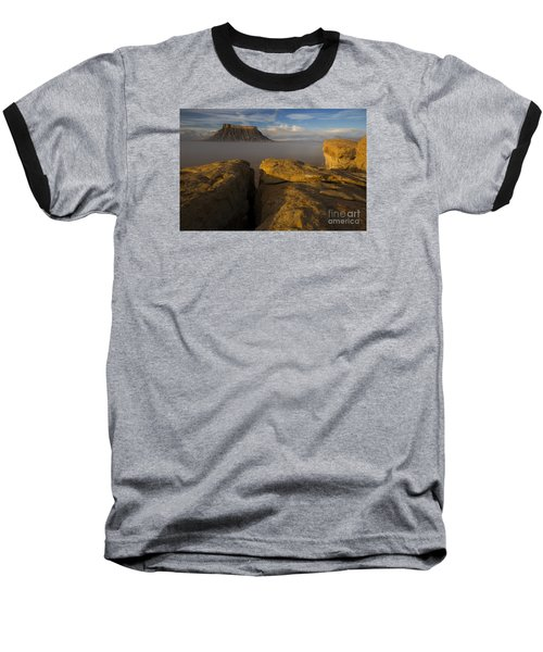 Sunrise Over Factory Butte Baseball T-Shirt
