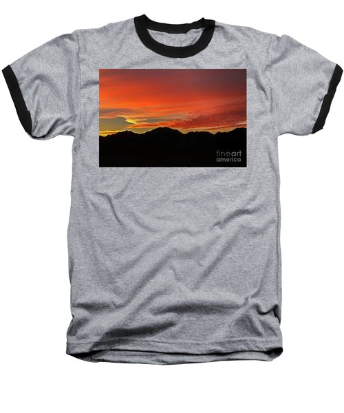 Sunrise Over Gila Mountains Baseball T-Shirt by Robert Bales