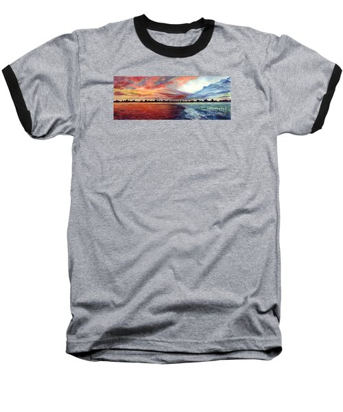 Sunrise Over Indian Lake Baseball T-Shirt by Nancy Cupp
