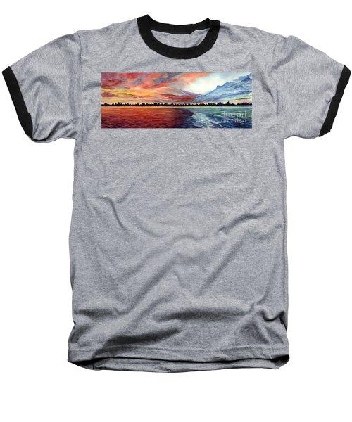 Sunrise Over Indian Lake Baseball T-Shirt