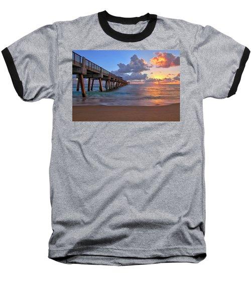 Sunrise Over Juno Beach Pier In Florida Baseball T-Shirt