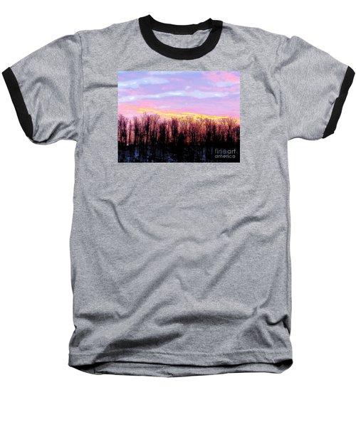 Sunrise Over Lake Baseball T-Shirt by Craig Walters