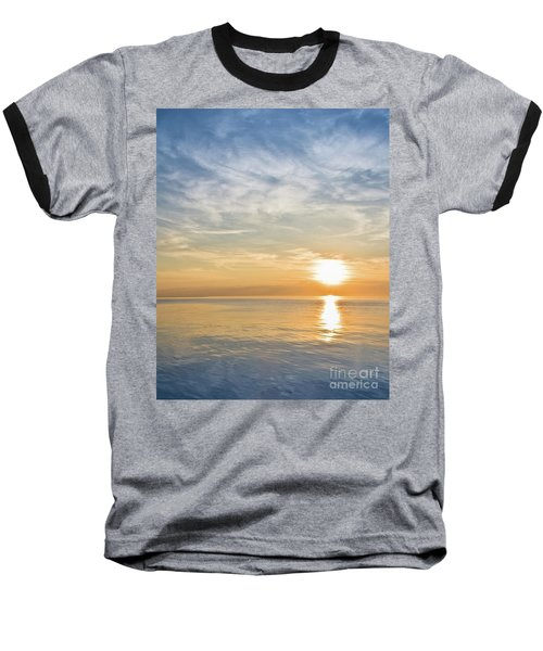 Sunrise Over Lake Michigan In Chicago Baseball T-Shirt
