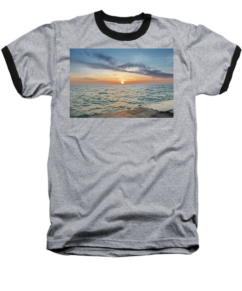 Baseball T-Shirt featuring the photograph Sunrise Over Lake Michigan by Peter Ciro