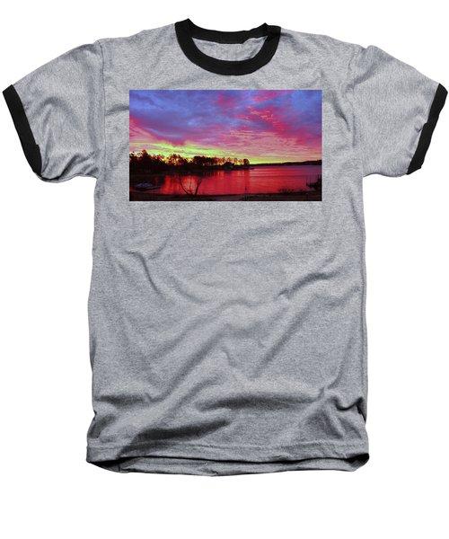 Sunrise Over Lake Murray Baseball T-Shirt