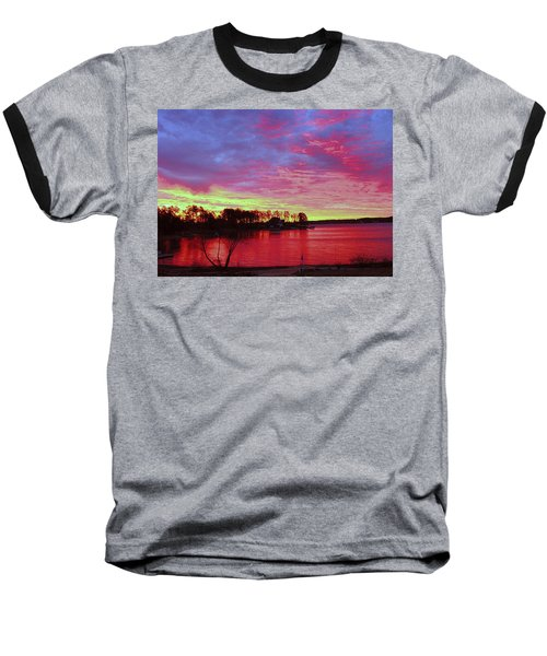 Sunrise Over Lake Murray Baseball T-Shirt