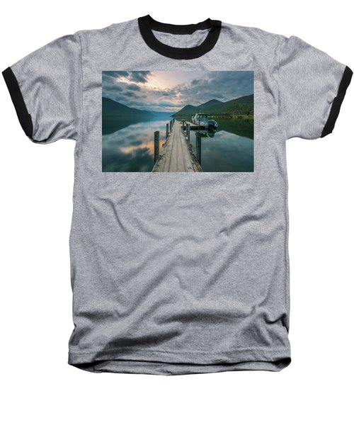 Sunrise Over Lake Rotoroa Baseball T-Shirt