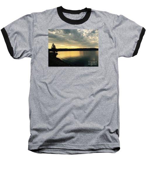 Sunrise Over Lake Washington Baseball T-Shirt