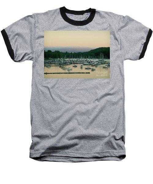 Sunrise Over Mallets Bay Variations - Three Baseball T-Shirt by Felipe Adan Lerma