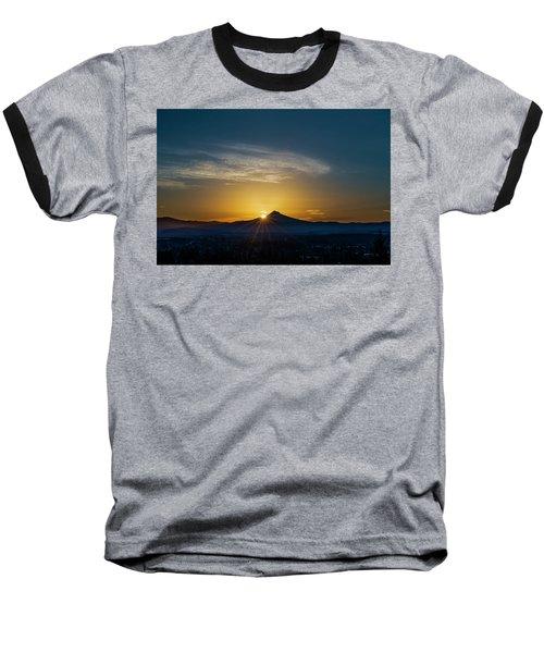 Sunrise Over Mt. Hood Baseball T-Shirt