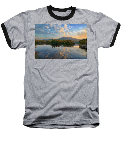 Sunrise Over Mt. Katahdin Baseball T-Shirt