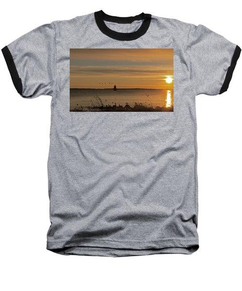 Sunrise Over New Bedford Baseball T-Shirt