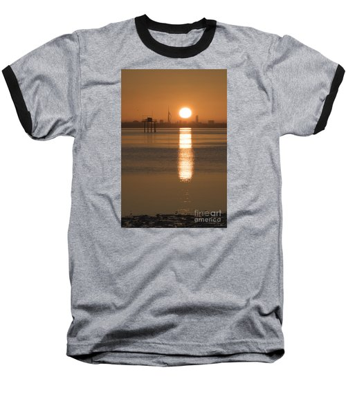 Sunrise Over Portsmouth Baseball T-Shirt