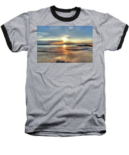 Sunrise Over Red Rock Park Lynn Ma Kings Beach Baseball T-Shirt