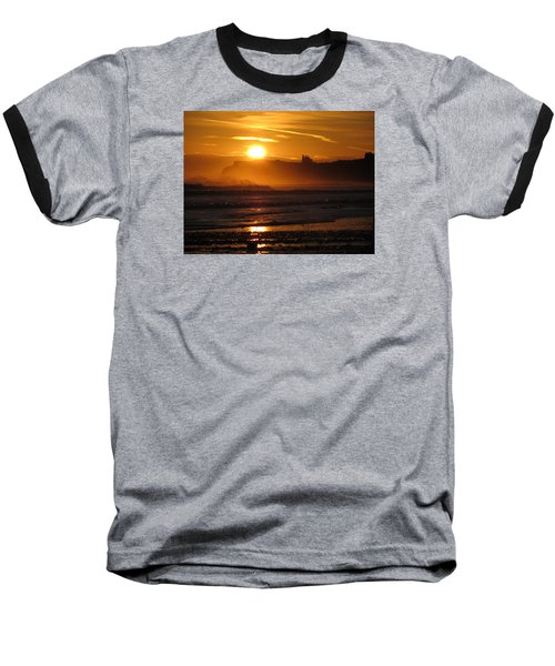 Sunrise Over Sandsend Beach Baseball T-Shirt