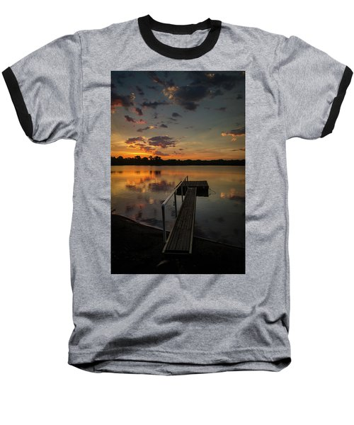 Sunrise Over Stuber's Dock V Baseball T-Shirt