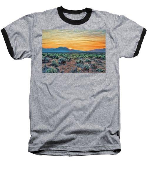 Sunrise Over Taos Baseball T-Shirt
