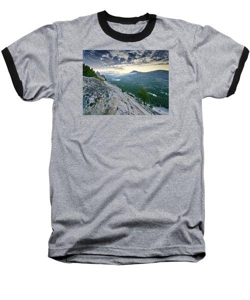 Sunrise Over Tenaya Lake - Yosemite National Park Baseball T-Shirt by Brendan Reals
