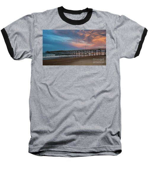 Sunset Over The Atlantic Baseball T-Shirt by Scott and Dixie Wiley