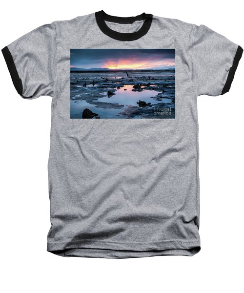 Sunrise Over The Bronze Age Sunken Forest At Borth On The West Wales Coast Uk Baseball T-Shirt