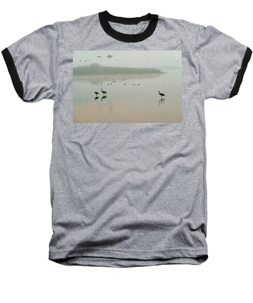 Baseball T-Shirt featuring the photograph Sunrise Over The Hula Valley Israel 2 by Dubi Roman