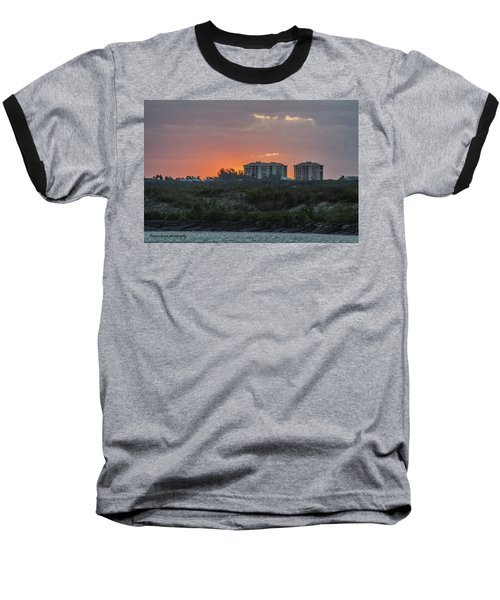 Sunrise Over The Intracoastal Baseball T-Shirt by Nance Larson